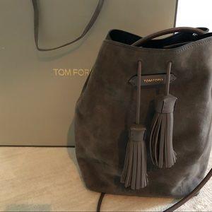 Tom ford suede bucket bag crossbody